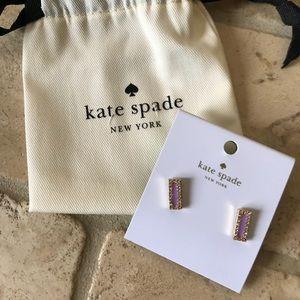 ❣️HP❣️ Kate Spade ♠️ Purple Pave Bar Earrings- NEW